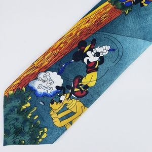 Disney Golf Mens Necktie Red Blue